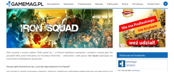 GameMag - Wywiad z Iron Squad