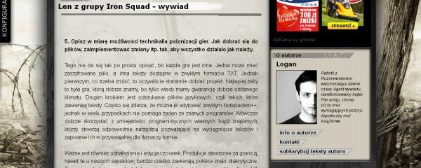 PunkGamer - Wywiad z Iron Squad